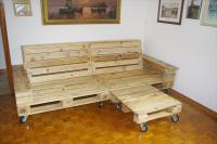 DIY Pallet Sofa with Chaise Lounge | Pallet Furniture Plans