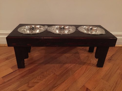 Medium Of Dog Bowl Stand