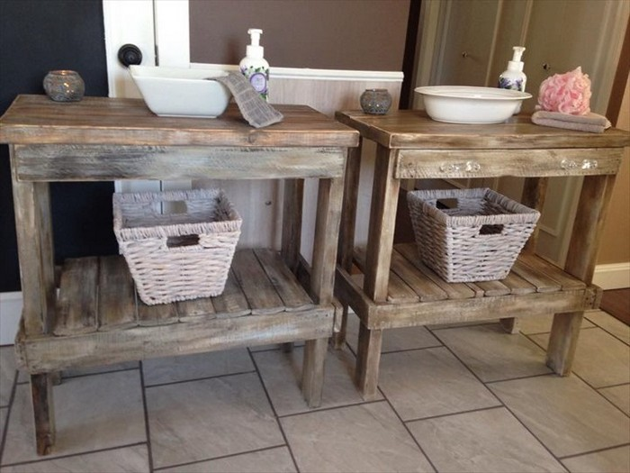 Pinterest Deco Wc Pallet Wood Bathroom Projects | Pallet Wood Projects