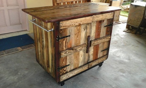Pallet Kitchen Island Plans Recycled Pallet Kitchen Island Table Ideas | Pallet Wood