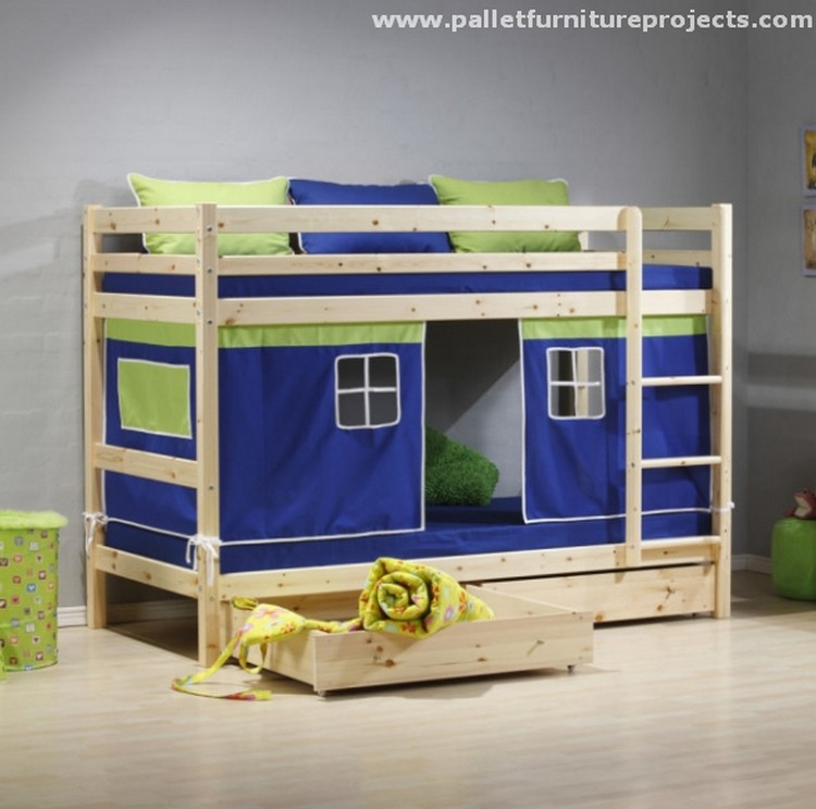 Literas Con Tobogan Para Niños Pallet Bunk Bed Projects | Pallet Wood Projects