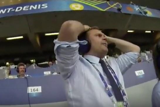 Video: Tältä islantilaisen selostajan sekoaminen näytti katsomon puolella