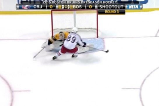 Video: Sam Gagner harhautteli jäätävän rankkariosuman NHL:n treenipelissä