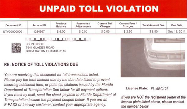 Florida Warns of Scam Company Sending Toll Invoices Palm Beach