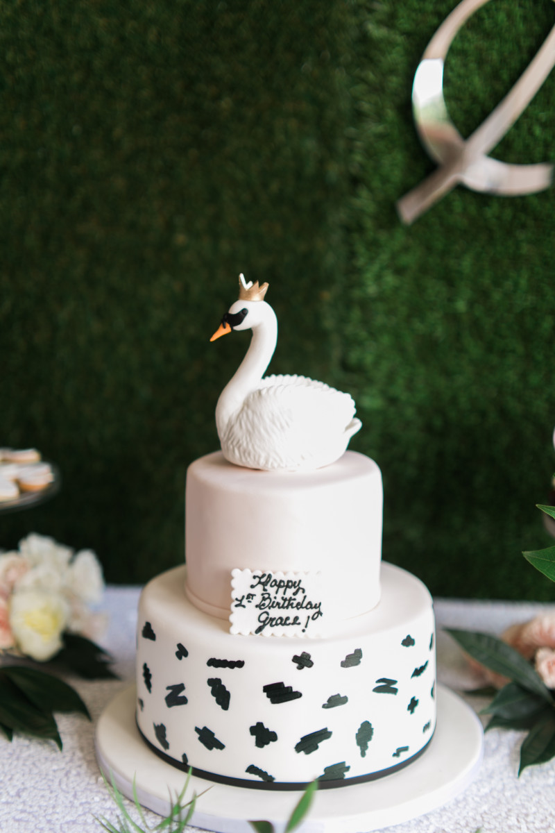 Kitchen Island Swan Soirée First Birthday Party | Palm Beach Lately