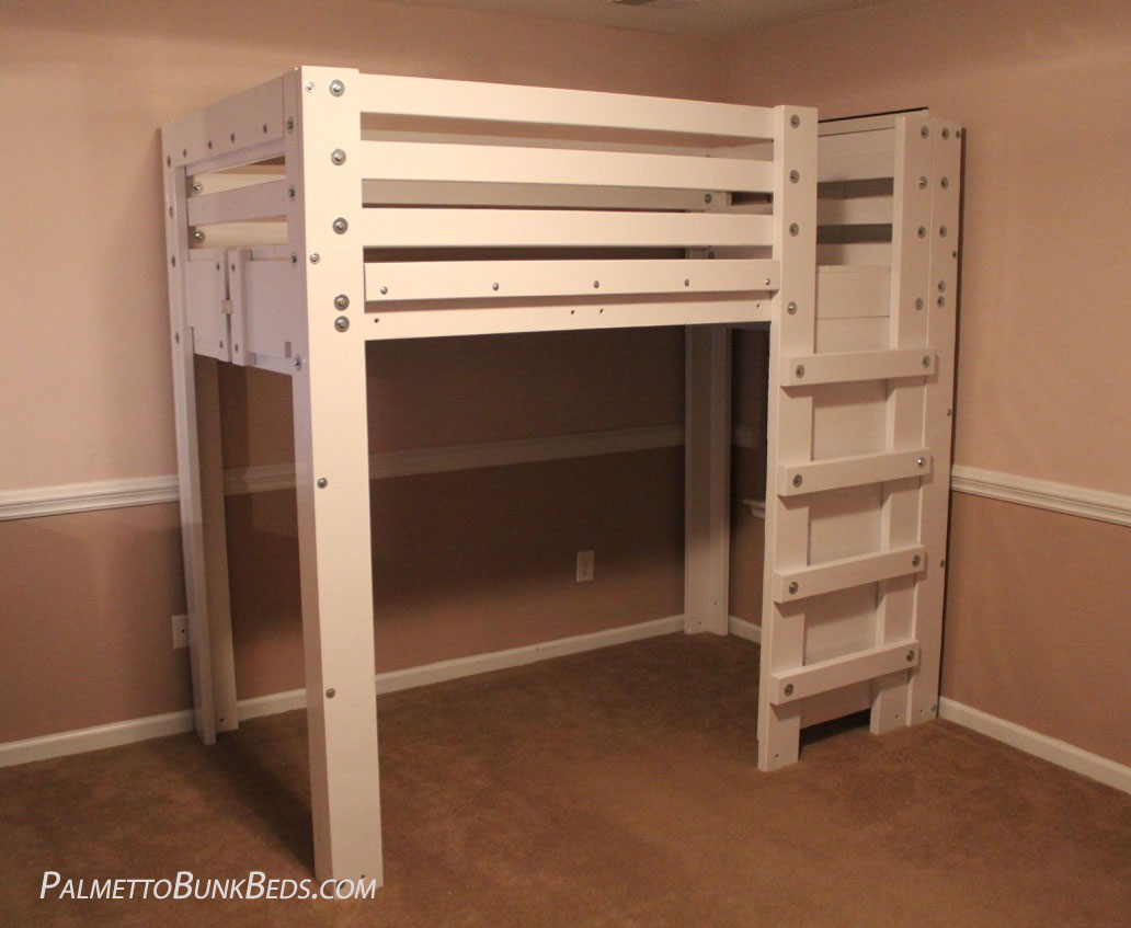 Twin Loft Bed Twin Loft Bed Plan - Palmetto Bunk Beds