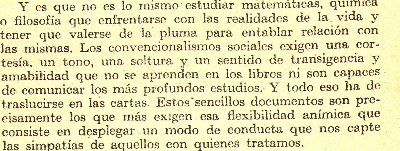 Manuscrito epistolar cartas de recomendación Palomitas en los ojos
