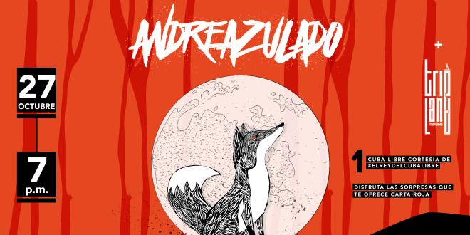 Andreazulado estrena nueva banda y hará un anticipo de su próximo disco en Ciclo y Aparte