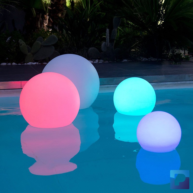 Lampe Gold Boule Lumineuse Solaire 30cm - Pamatrex Sa - Piscines