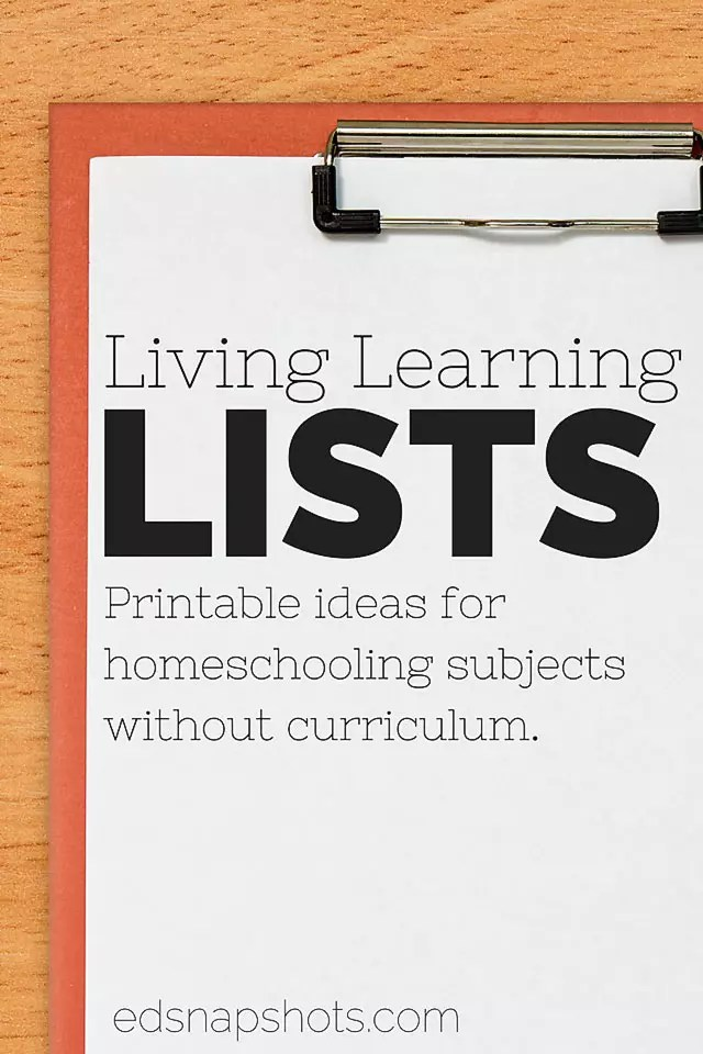 Free Homeschool Planner Learning Living Lists Printables - printable grocery lists