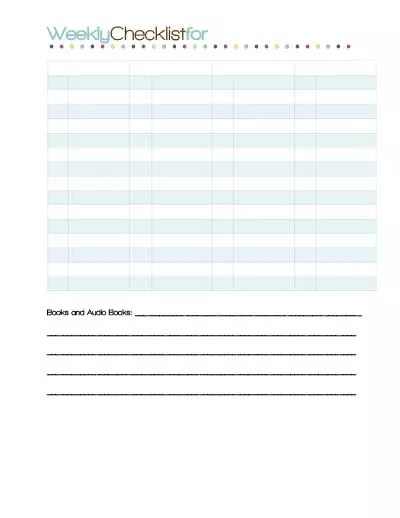 Organize Your Studentu0027s Day With Clipboard and Checklist Download - weekly checklist