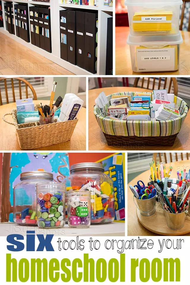 Six Must-Have Tools for Organizing Your Homeschool Room