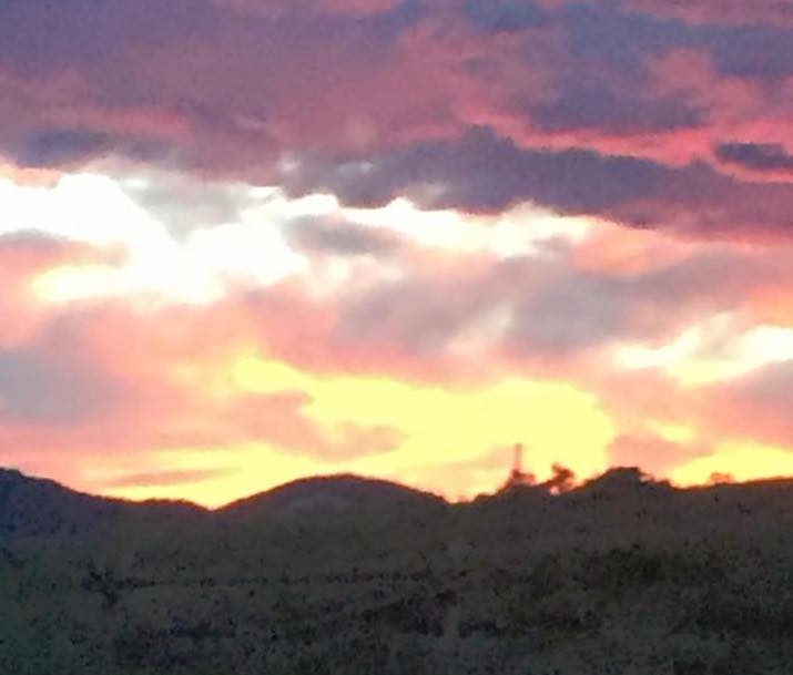 orange skies at night