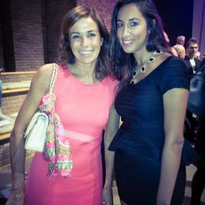 Pamela Quinzi and Italian TV Host Cristina Parodi