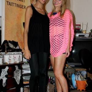 Pamela Quinzi with actress/singer Allie Gonino