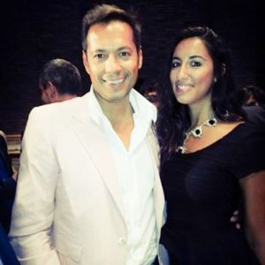 Pamela Quinzi with actor Danny Queen