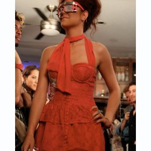 Fashion show featuring eyeglasses designer Stevie Boi