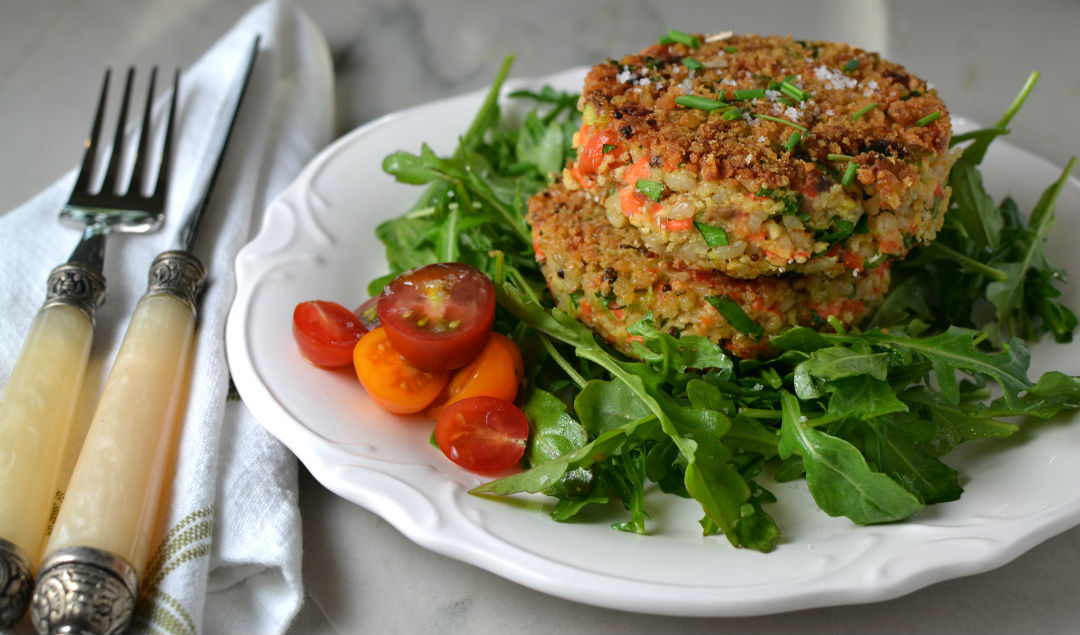 Salmon Rice and Dill Cakes