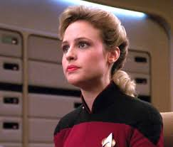 Pamela Winslow Kashani man's the conn as Ensign McKnight in Star Trek: The Next Generation