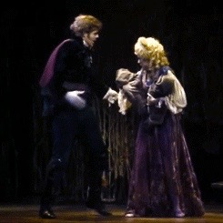 Pamela Winslow Kashani as Rapunzel with her Prince in Into the Woods