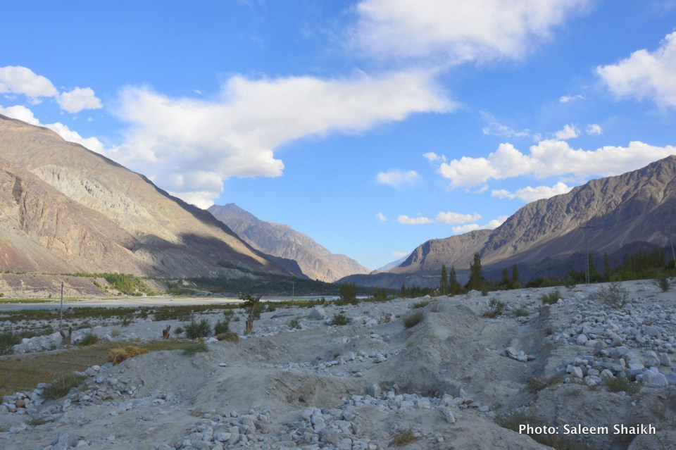 A view of once-fertile maize, potato and what fields now under the mud and heavy boulders washed down by the devastating 2010 flash flood in Damaas valley of Gilgit-Baltistan region's scenic Ghizer district, Pakistan's north. Photo credit: Saleem Shaikh