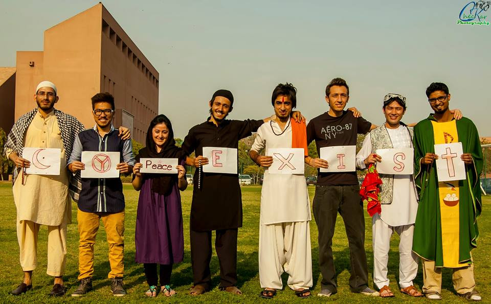 This picture, based on the theme of Co-existence, being  nominated among best three pictures at F.F.A.C.T - Aga Khan University Inter Karachi student Film and Photography Festival.2014.