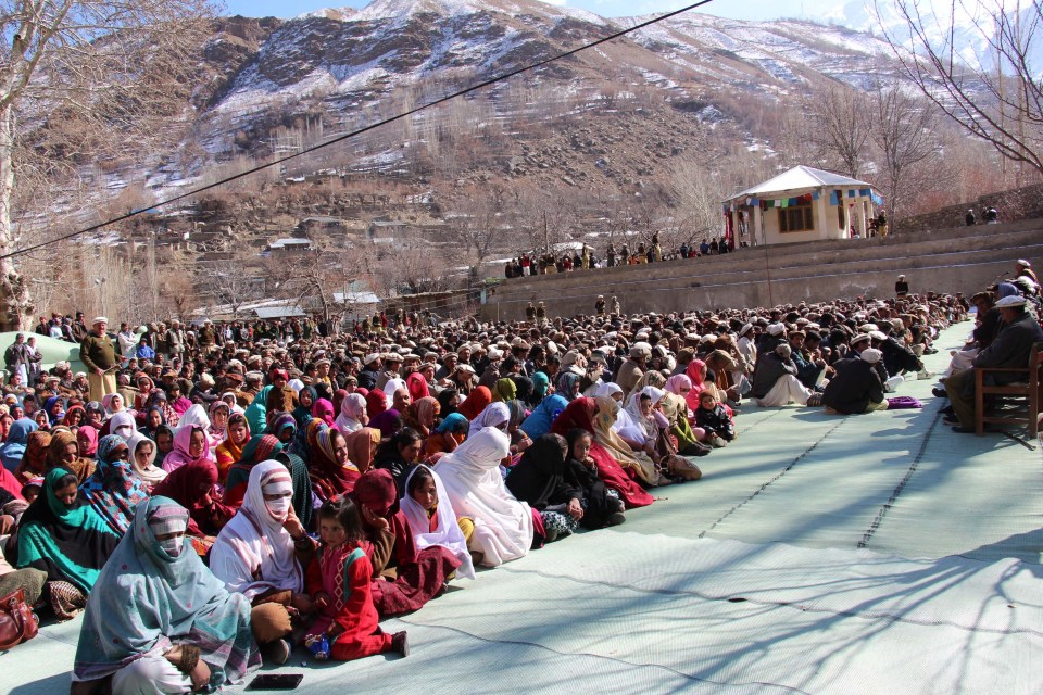 Thousands of women and men listen to the speakers as they highlight the teachings and life of Pir Nasir Khsuraw