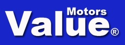 Value Motors Logo - Blue