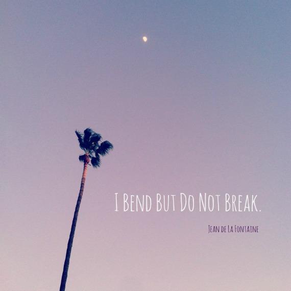 """""""I bend but do not break."""""""