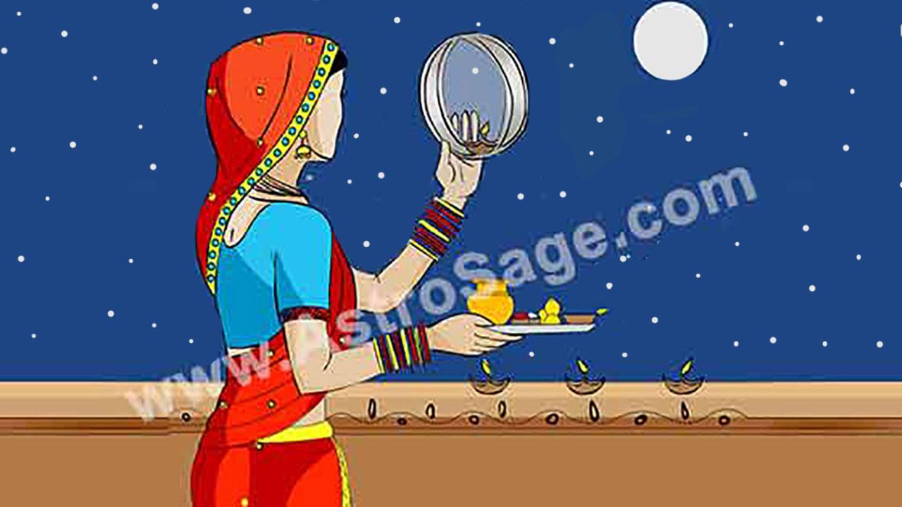 Good Evening Hd Wallpaper Karva Chauth 2018 Vrat Karwa Chauth Moonrise Time For New
