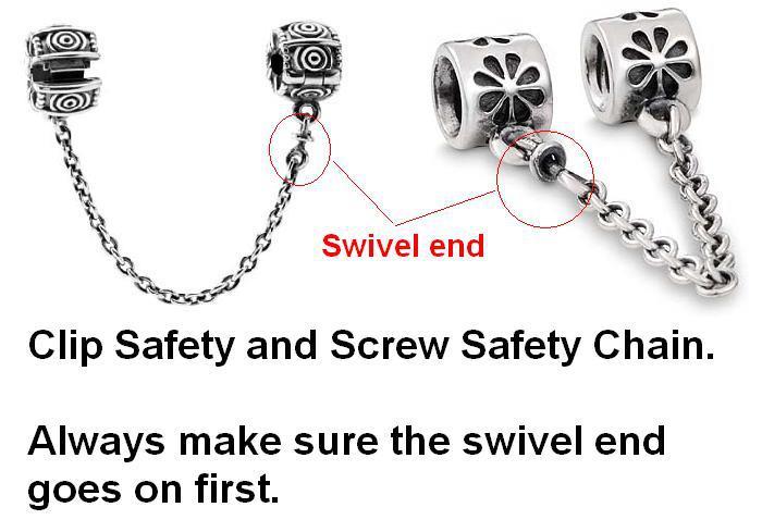 Correct Way To Put On A Safety Chain Pandora Addict