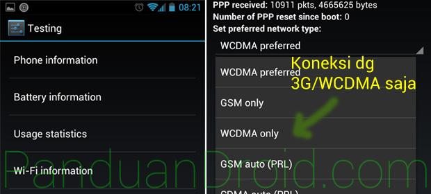 Cara Aktivasi Koneksi Data 3G/WCDMA Only di HP Android