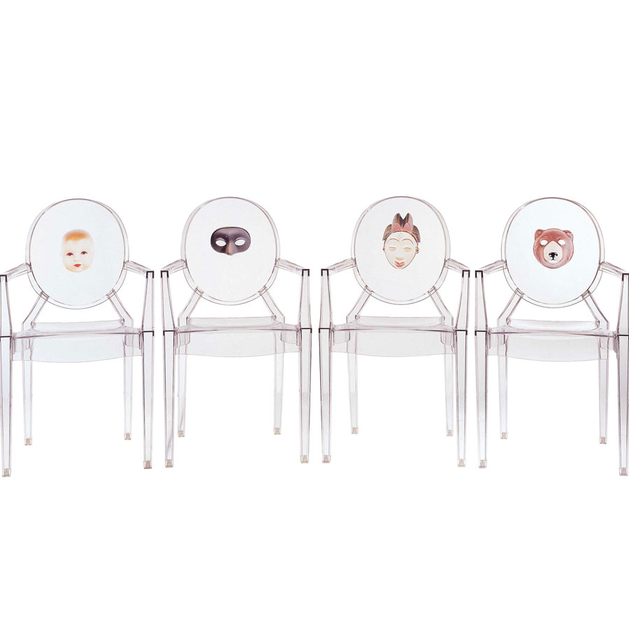 Philippe Starck Ghost Chair Kartell Louis Ghost Face Chair 2pcs Philippe Starck