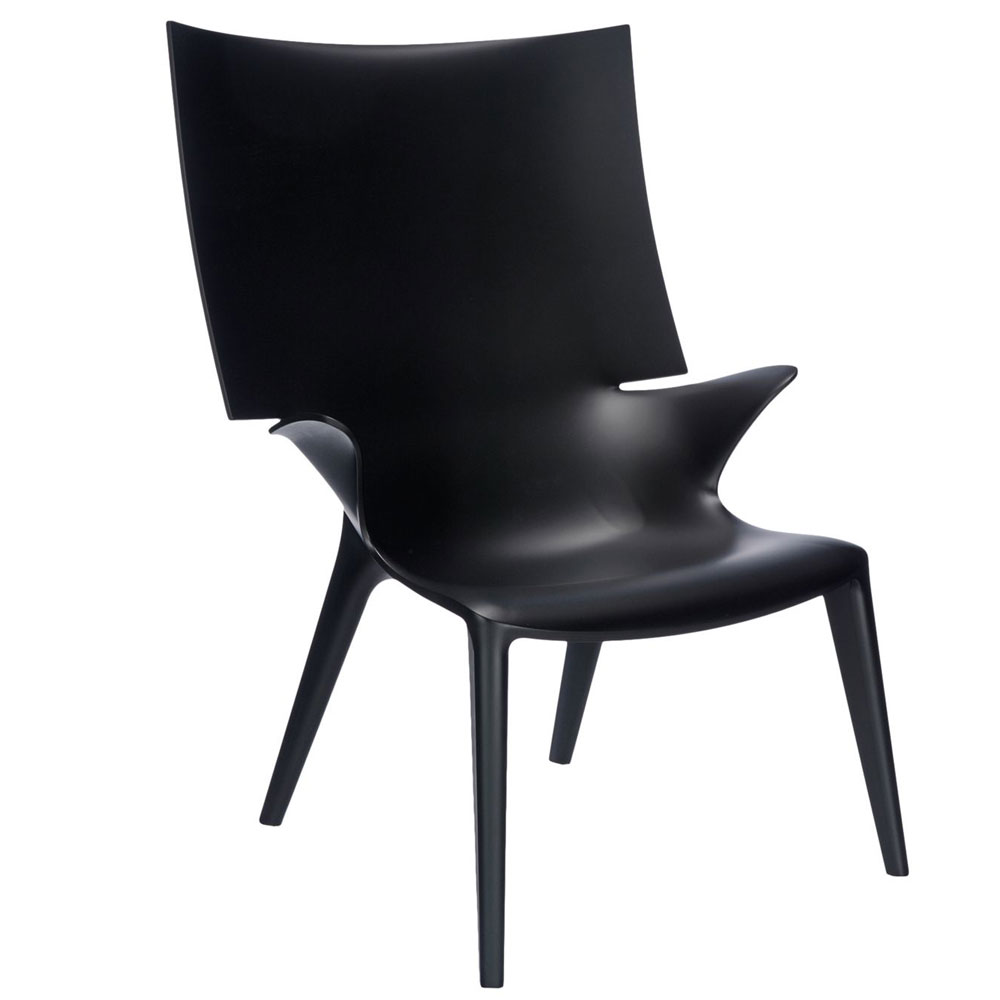 Philip Starck Kartell Uncle Jim Armchair Black Philippe Starck