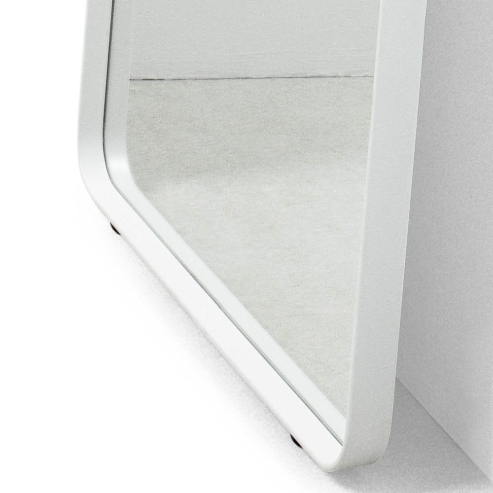 White Floor Mirror Menu Norm Floor Mirror White With Leather Strap