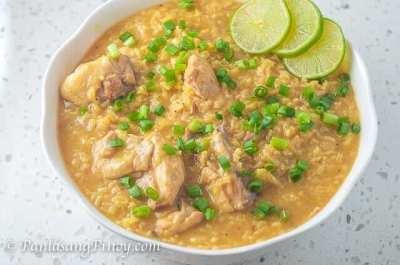 Yellow Arroz Caldo Recipe - Panlasang Pinoy