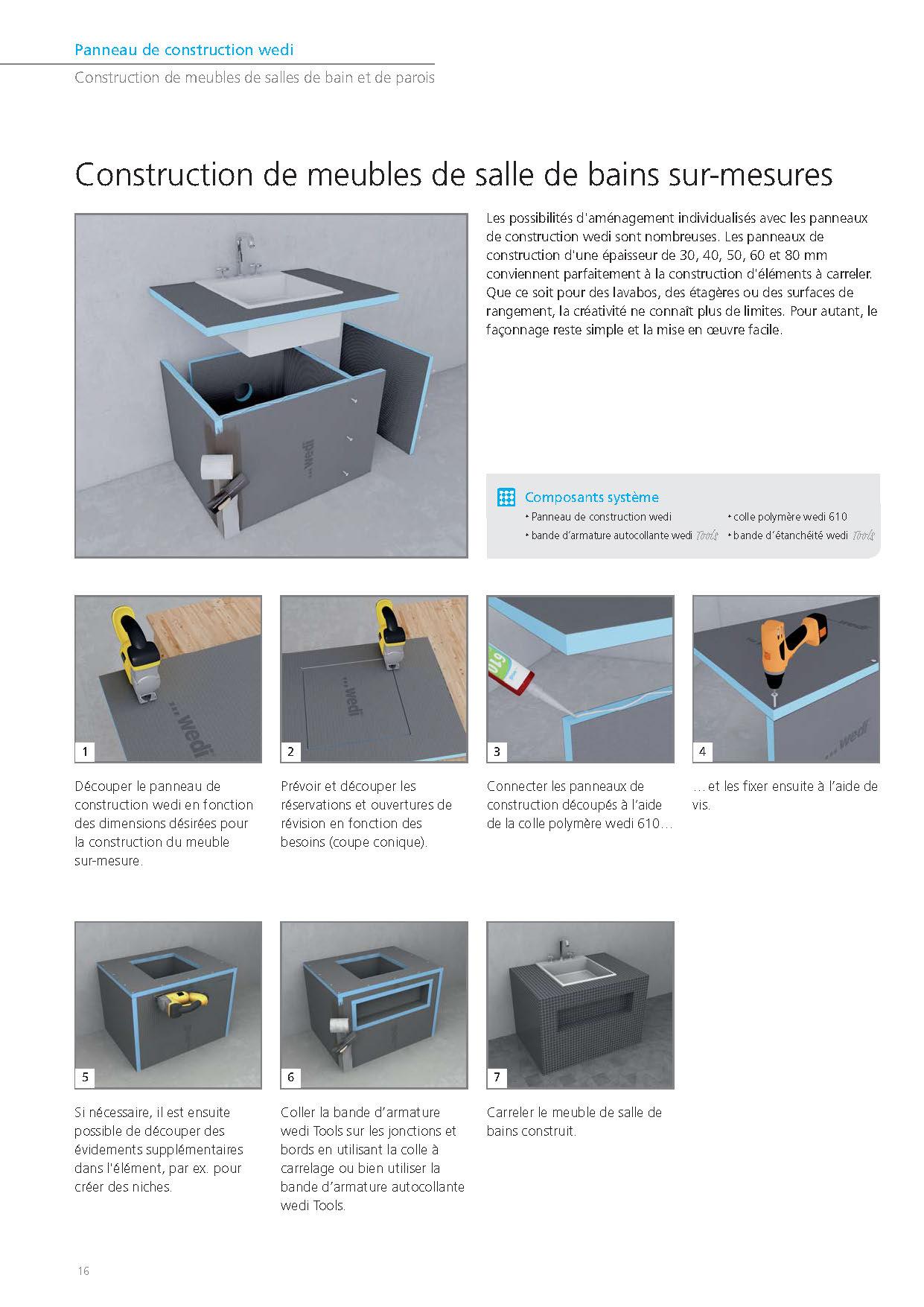 Prix Panneau De Construction Wedi | Panneau H 60 Cm X L 250 Cm Lux ...