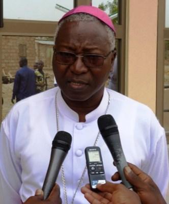 Karidinali Philippe Ouedraogo ukomoka muri Burkinafaso ari mu ntumwa za Papa ziri mu Rwanda.
