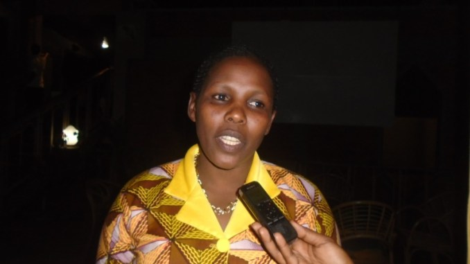 Agnes Mukantagara, a mother of three children, a trader and deals in cassava flour.