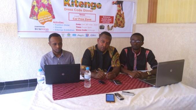 Abategura Kitenge Dress Code Dinner: Danny Ndayishimiye, Ngendahayo Aimable na Sunday Justin Nzizatira) Photo/Panorama