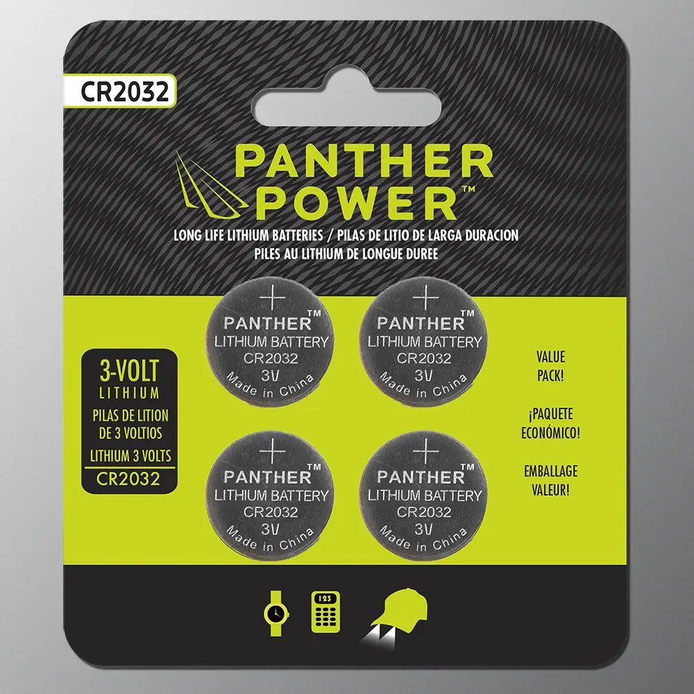 Cr2032 Battery Panther Power Cr2032 4 Pack Batteries