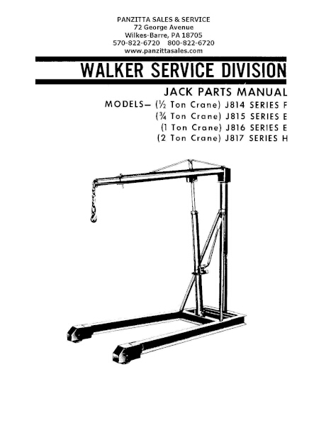 Lincoln Walker J814 F, J815 E, J816 E, J817 H Parts \u2013 Panzitta Sales