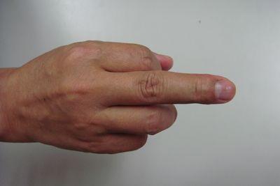 敕的手勢-正面
