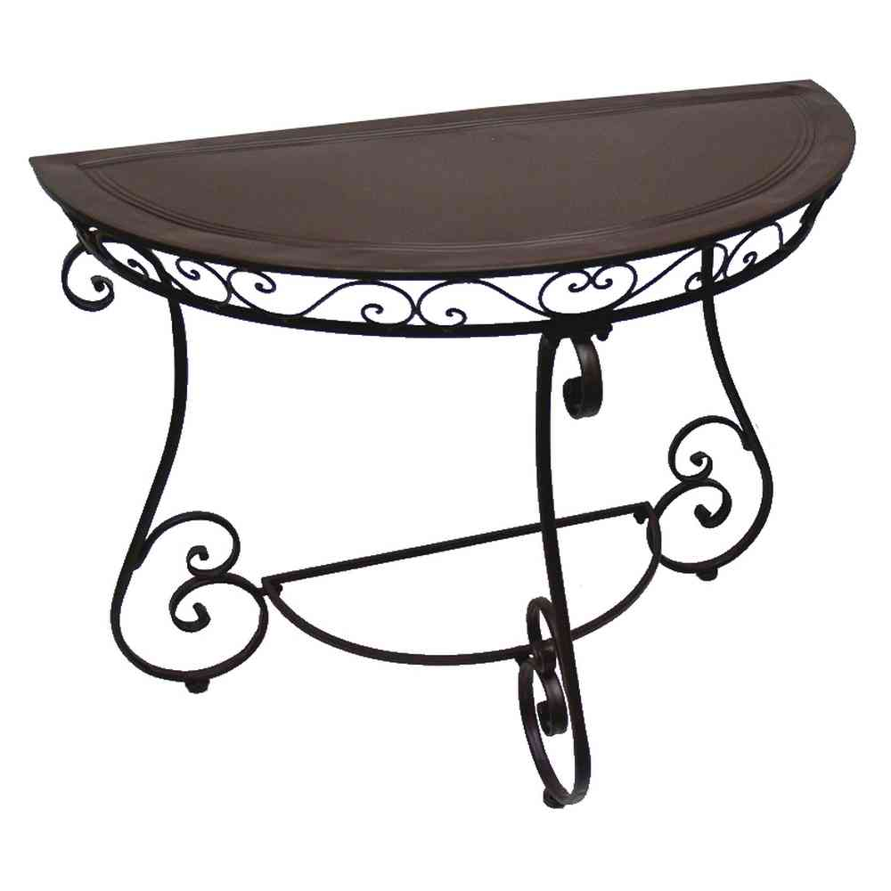 Table Demi Ronde Console Table Demi Lune Fer Forge Charme
