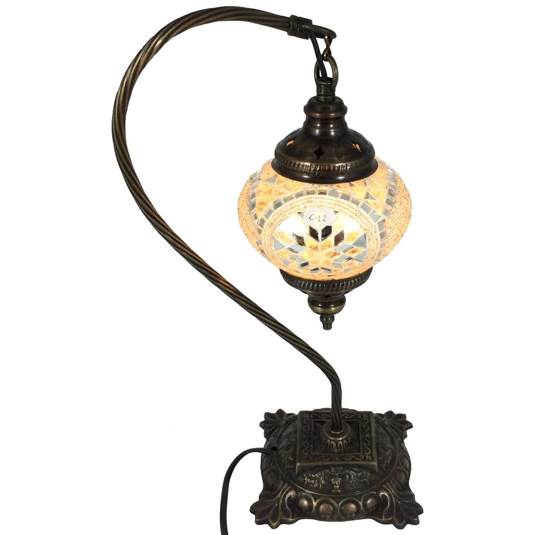 Lampe Chevet Bronze Lampe De Table Chevet MosaÏque Papaye Citron