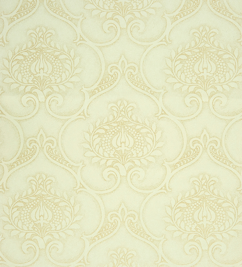 Papeles Pintados Pared Papel Pintado Damasco Arabesco Dorado Fondo Beige - 2011673