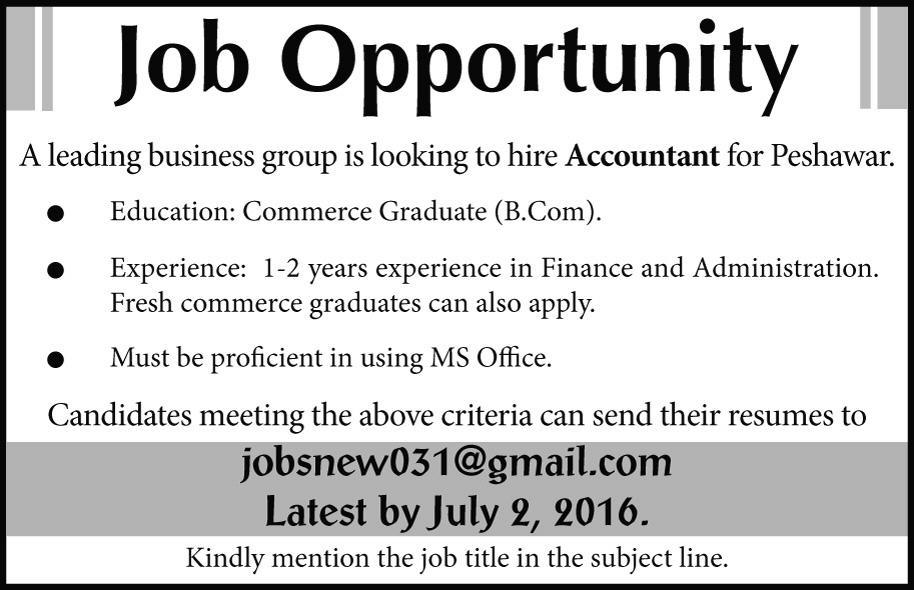 031-express Pakistan Jobs - Accounting Job Titles