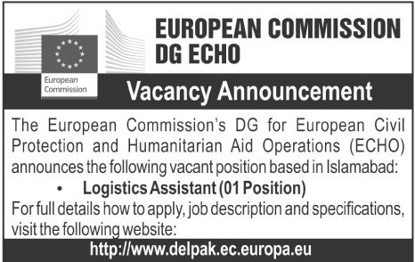 European Commission DG ECHO in Islamabad Jobs 2016 Available for the