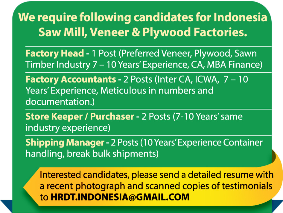 Job - Shipping Manager - Indonesia - Office Administration
