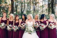 Winter Wedding Bridesmaids | Midway Media